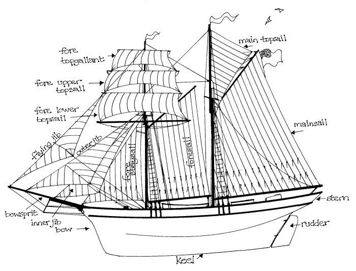 Parts Of A Schooner : Sailing into the past claudia myatt