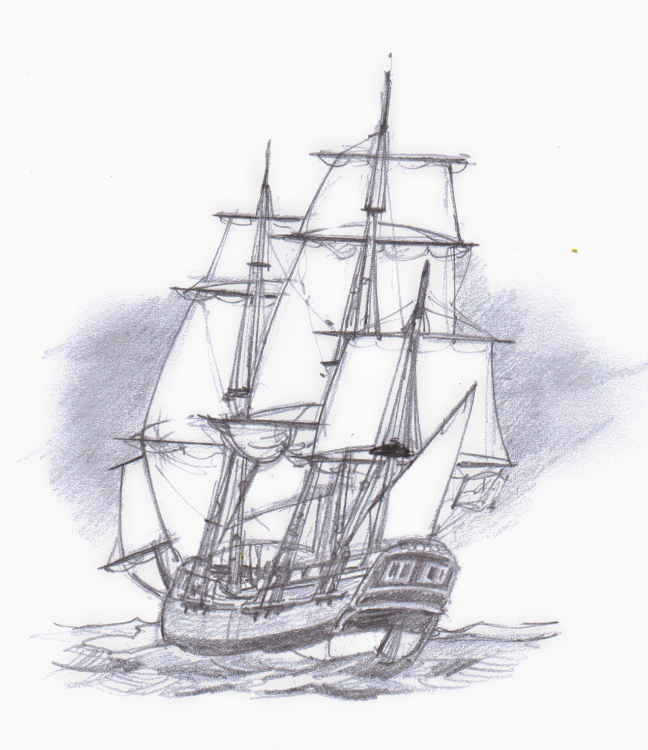 how to draw the endeavour ship