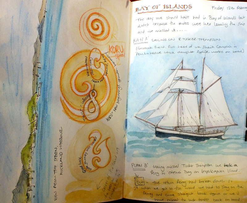 sketch bay of islands