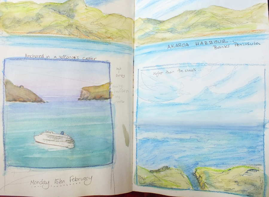 sketch book akaroa