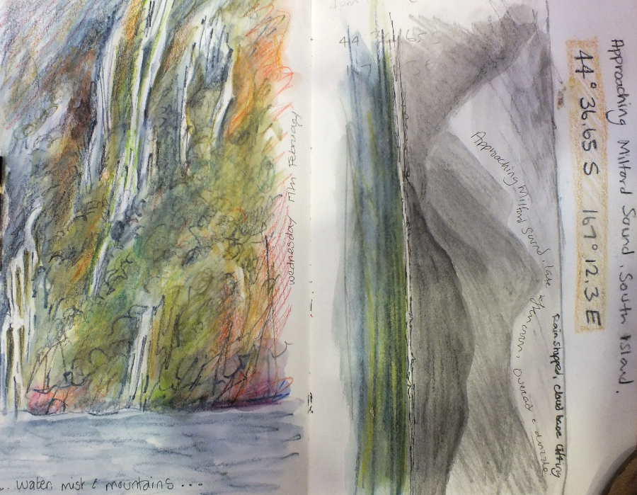 sketchbook milford sound
