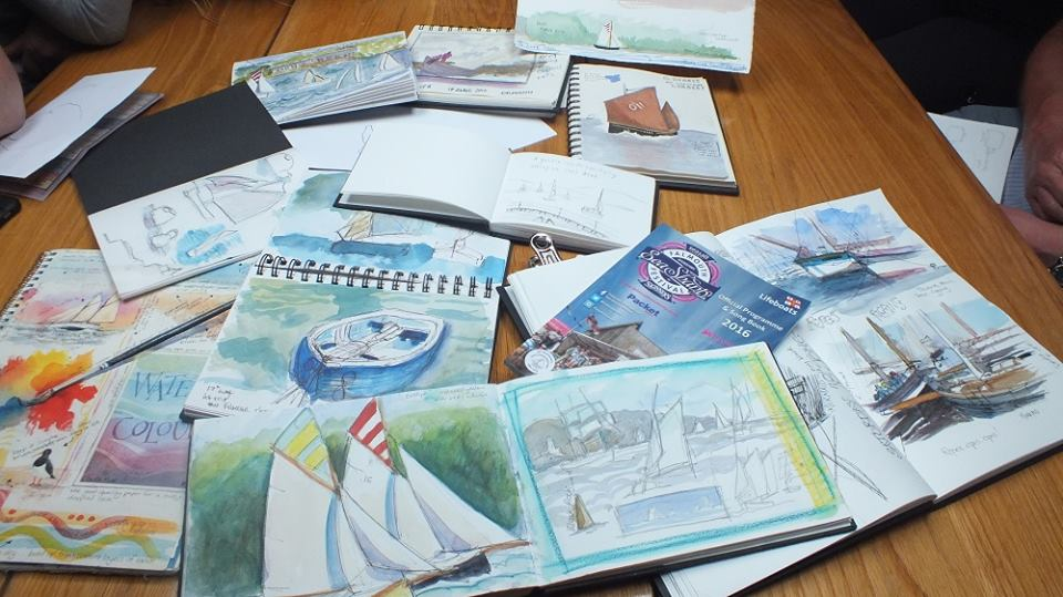sketchbooks on eve
